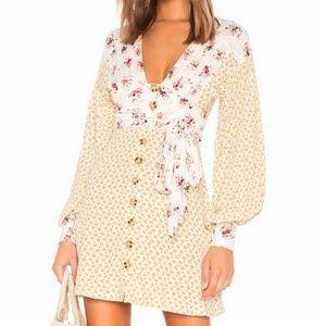 Free People Wonderland Long Sleeve Mini Dress